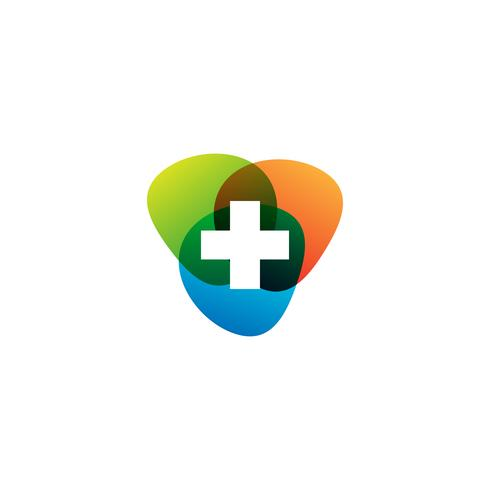 Medizinisches Kreuz und Gesundheit Apotheke Logo Vector Template