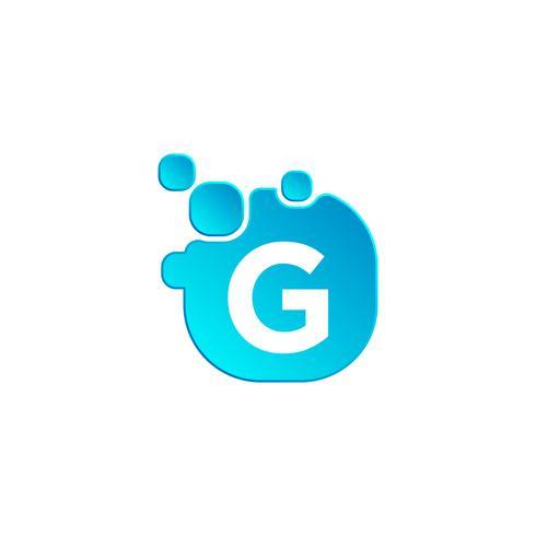 Letra G burbuja logotipo plantilla o icono vector ilustración