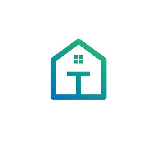 letter t architect, home, construction creative logo template