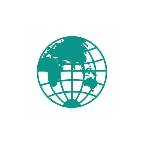 globo logotipo ícone design vector ilustração ícone elemento