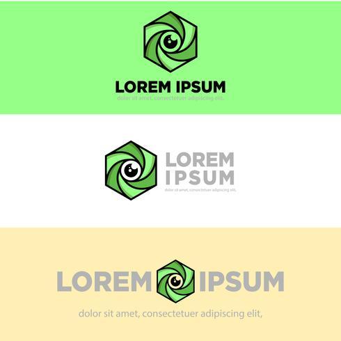 Ilustración de vector de plantilla de logotipo creativo hexágono fotografía