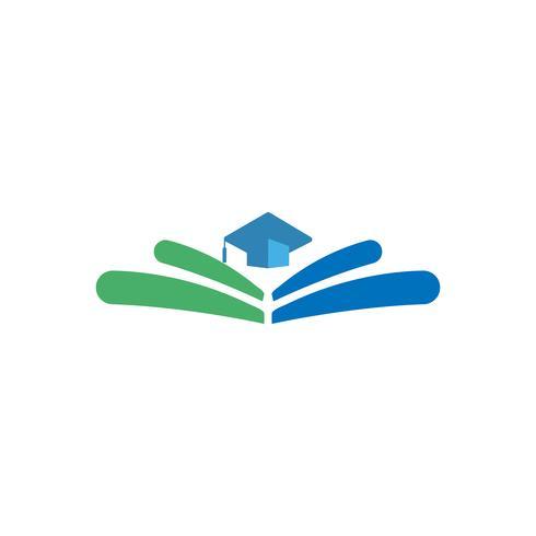 Ausbildung, Absolventlogo-Vektorillustration, Ikone lokalisierte Elemente