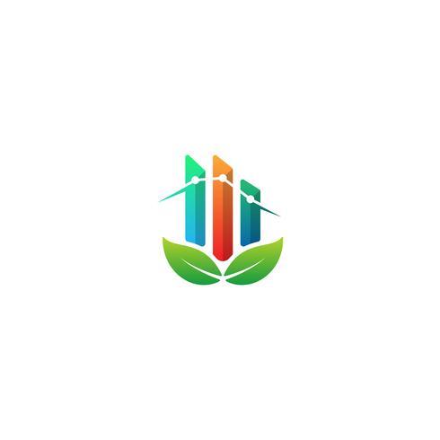 nature chart logo design info graphic symbol icon vector