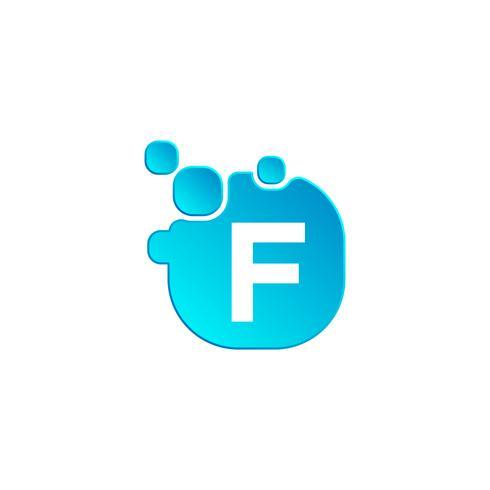 Modèle de logo lettre F bulle ou illustration vectorielle icône