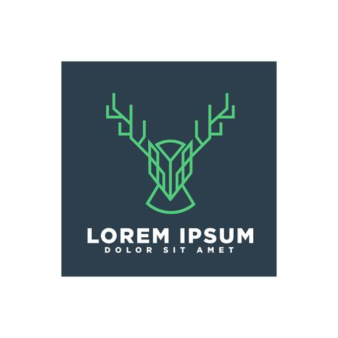 deer line art concept for business logo template vector element isolated