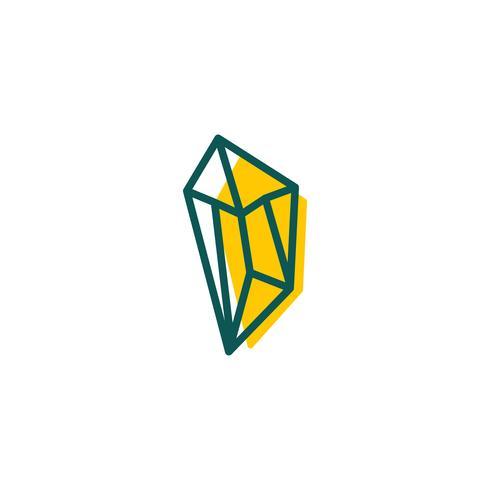Stein, Diamant, Edelstein Logo Vorlage, Symbol isoliert Elemente