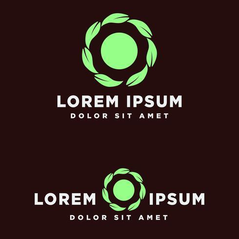 hoja verde eco creativo logo plantilla vector illustration