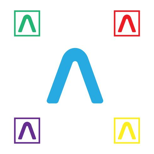 Letter A Abstract creative logo template vector illustration