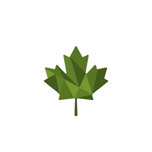 grünes Blatt Cannabis Logo Vorlage Vektor Illustration Symbol Element