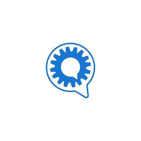 ingranaggio logo design industriale icona elemento illustrazione