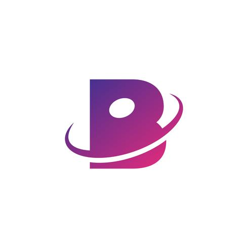 ilustrador de vetor de modelo de logotipo criativo letra B