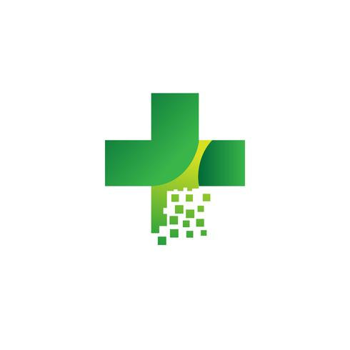 Medical Cross and Health Pharmacy Logo Vector Template