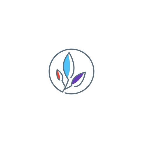 groen blad cannabis logo sjabloon vector illustratie pictogram element