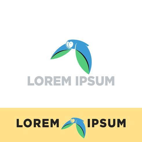 flying owl, bird logo template vector illustration, icon elements