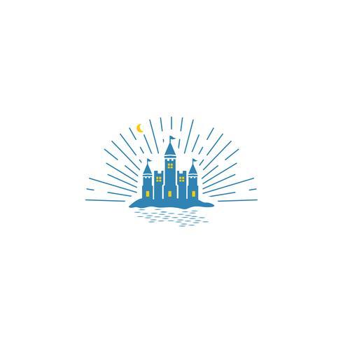 Castillo idea logotipo plantilla vector ilustración icono elemento aislado