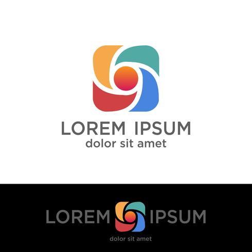 photography creative logo template, vector illustration elements