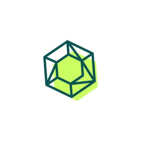 steen, diamant, edelsteen logo sjabloon, pictogram geïsoleerde elementen