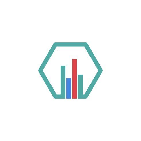 Buchhaltung, Finanzen kreative Logo Vorlage Vektor isoliert
