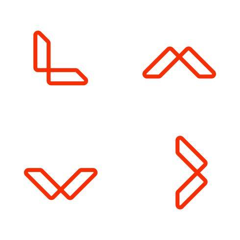 letter L outline logo template vector illustration, icon elements