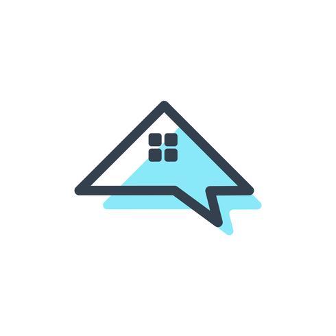 architetto casa, forum, consulente, modello di logo creativo messaggio
