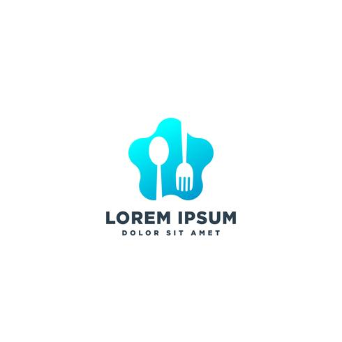 food chef logo design vector icon element