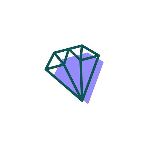 stone, diamond, gem logo template, icon isolated elements vector