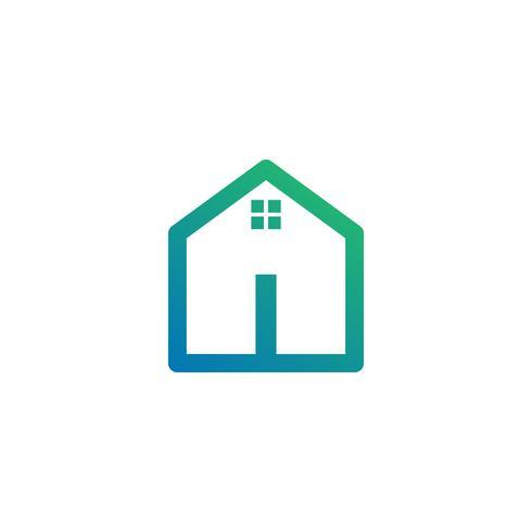 brev i arkitekt, hem, konstruktion kreativ logotyp mall