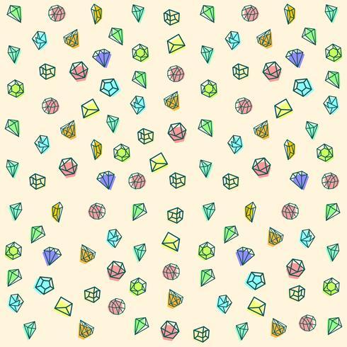 pierre, diamant, gem logo modèle, éléments isolés icône