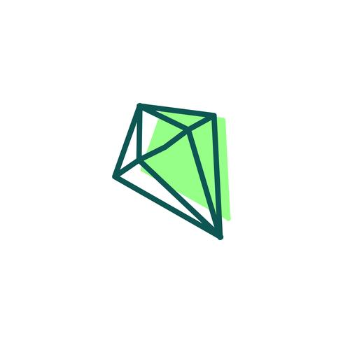 stone, diamond, gem logo template, icon isolated elements