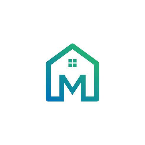 Buchstabe m Architekt, Haus, Bau kreative Logo-Vorlage
