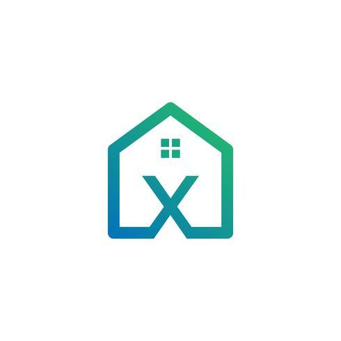 Buchstabe x Architekt, Haus, Bau kreative Logo-Vorlage