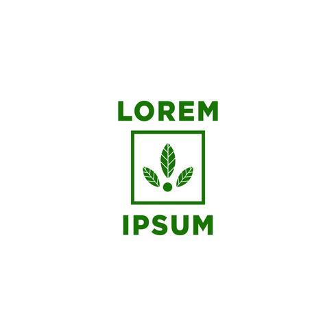 leaf, eco logo template vector illustration, icon elements
