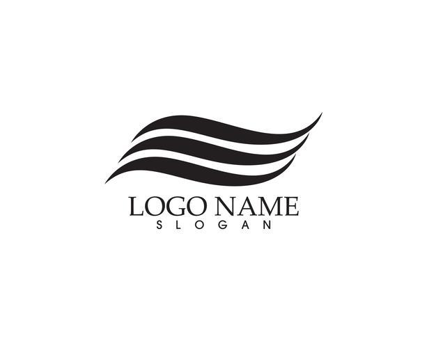 Water natuur logo en symbolen sjabloon pictogrammen app