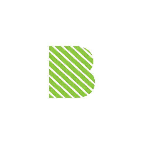 lettre B logo créatif modèle vecteur illustrateur