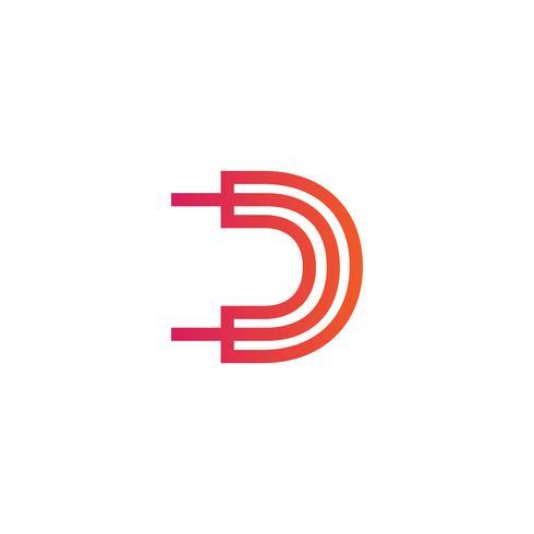 lettre d creative logo template vecteur illustrator