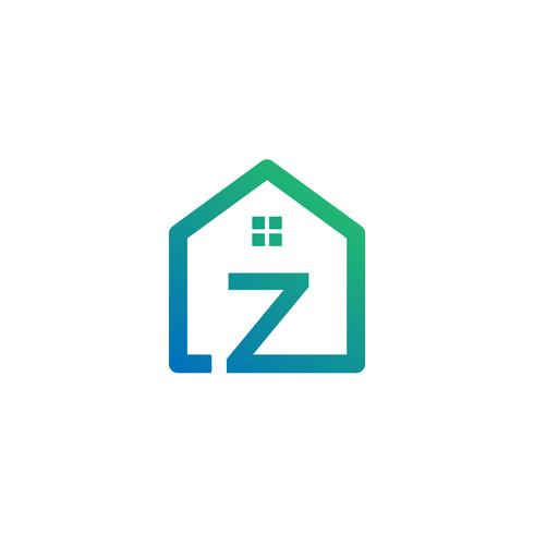 letter z architect, home, construction creative logo template