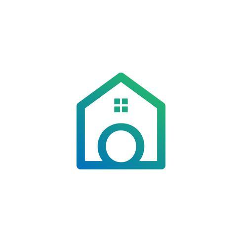 letra o arquiteto, casa, modelo de logotipo criativo de construção