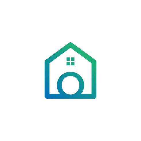 letter o architect, home, construction creative logo template