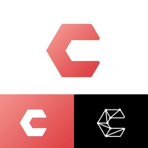 Letra C Set Logo plantilla vector illustration uso listo para tecnología