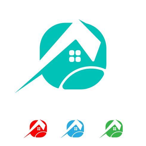 Architekt, Haus, kreativer Logoschablonenvektor des Baus lokalisiert