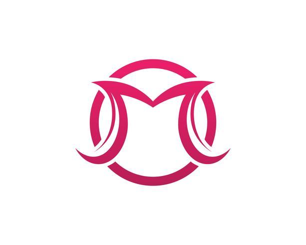 Brev M vektorikoner, sådan logotypmall