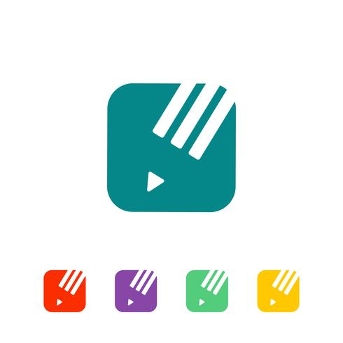 Educación, ilustración de vector de logotipo graduado, icono aislado elementos
