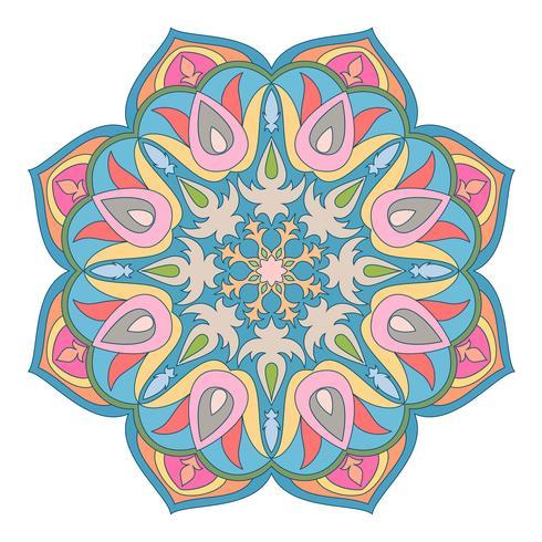 Elemento decorativo oriental.Islam, árabe, indio, motivos otomanos. vector