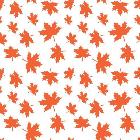 Padrão de vetor sem costura com folhas de outono. Colher o fundo das folhas de outono para a cópia de matéria têxtil, papel de envolvimento, scrapbooking.