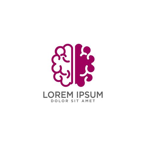 brain concept logo template vector illustration and inspiration