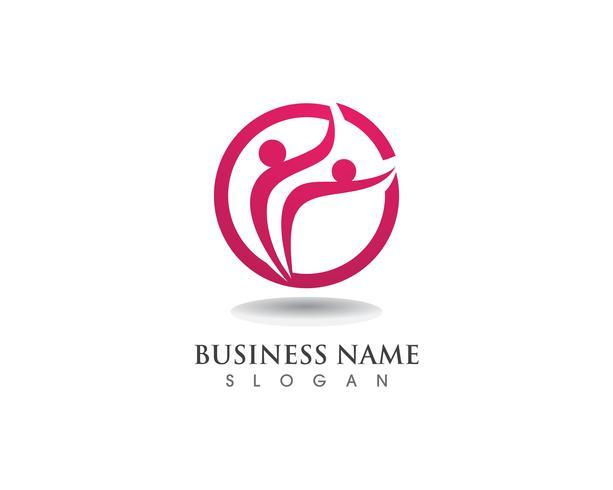 Health people care logo and symbols