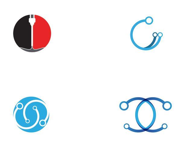 logo vettoriale di circuito tecnologia ilustration
