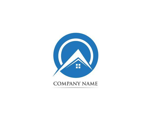 Logotipo e símbolo de casa vector
