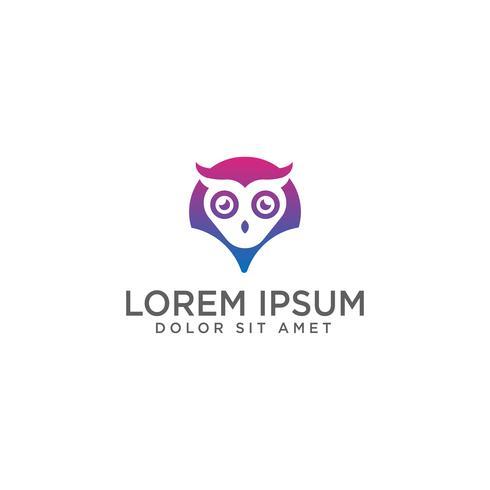 Mapa de coruja ou ponto logotipo modelo vector illustration e inspiração