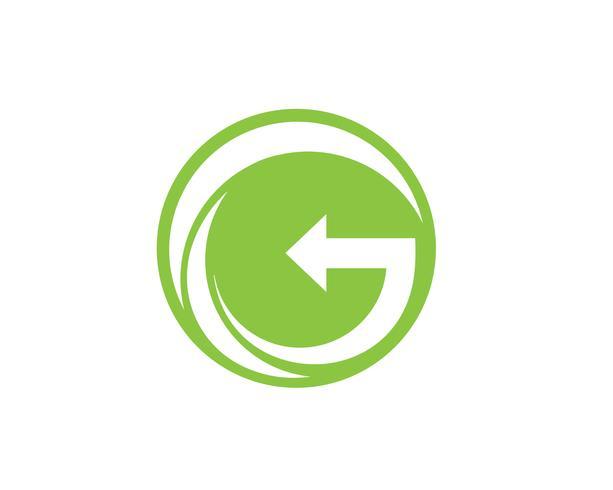 G ga groene logo letters logo en symbolen sjabloon pictogrammen